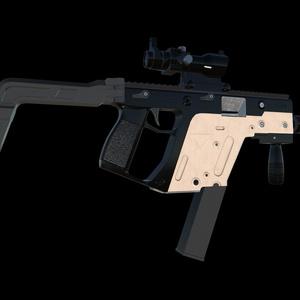 vectorをモチーフにした銃3Dモデル