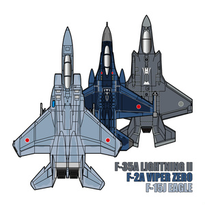 JASDF Fighters 2021-(全種推し) 角型