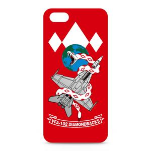 """VFA-102""""Diamondbacks""""iPhone5/SEケース 赤"""