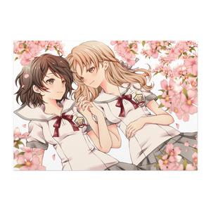 百合ポスター「満開の花の下」