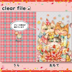 クリアファイル/ケーキ