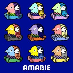 アマビエ透明シール(9種15枚+オマケ3~4枚)