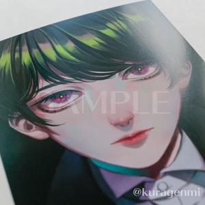 【ポストカード】Black hair