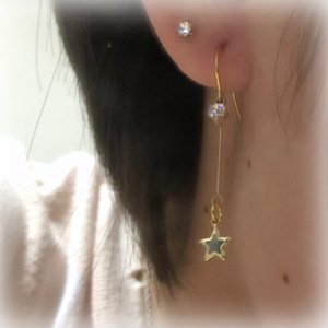 【Kiramuneカラー】小さな星とビジューのピアス*°イヤリング