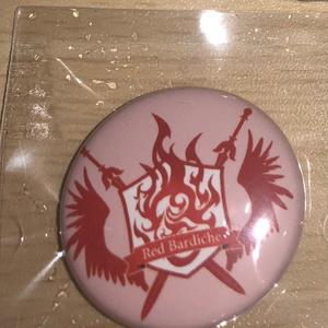 ボイス企画『声で勝ち取る騎士戦争』騎士団紋章缶バッチ・レッドバルディッシュ