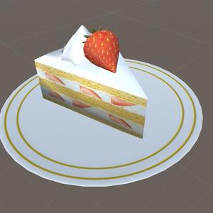 【無料】いちごショートケーキ 3Dモデル(FBX)