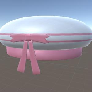 【無料】リボン付き帽子 3Dモデル(FBX)