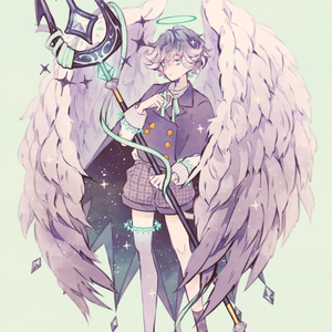 「堕天使」イラストボード