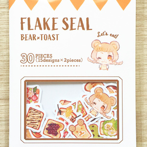 「FLAKE SEAL~BEAR×TOAST~」フレークシール