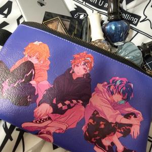 かまぼこ平ポーチ【紫】