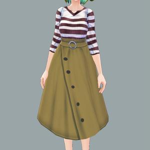 【Vroid用】スカートとカットソー【Update!!】