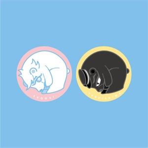 【GK】こぐま月+江のカンバッチ