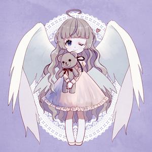 天使ちゃん【アクリルキーホルダー(70㎜)】