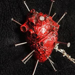 刺心臓ネックレス