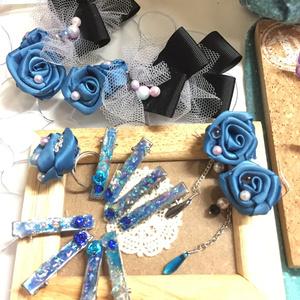 ◆YOI◆若ヴィクトルイメージ・青薔薇バレッタ(送料込
