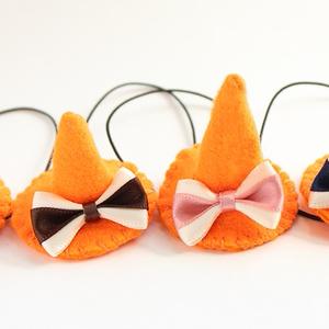 もちマス用 ハロウィンミニ帽子オレンジ