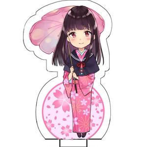 キモノ少女アクリルスタンド(桜とセーラー羽織コーデ)