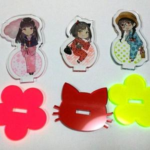 キモノ少女アクリルスタンド(猫コーデ)