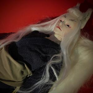 わにふち 球体関節人形「しろ狐の男」