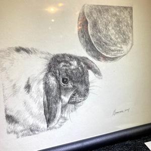 今村建朗《桃と兎 / My Bunny》