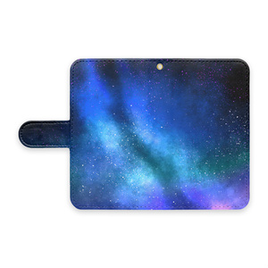 手帳型Androidケース/ストラップホールあり/星空