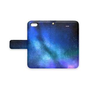 手帳型iPhoneケース/ストラップホールあり/星空