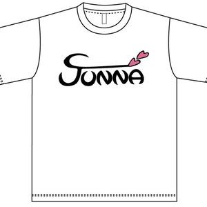 JUNNAロゴTシャツ -ホワイト-