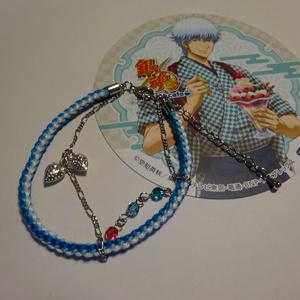 銀魂 キャラクターイメージの組み紐ブレスレット(銀時)
