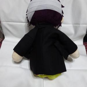 銀魂 くったりちゃん用 羽織(黒)
