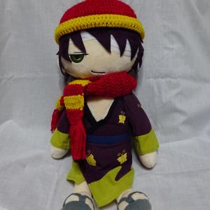 銀魂 くったりちゃん用 マフラー&ニット帽(赤)