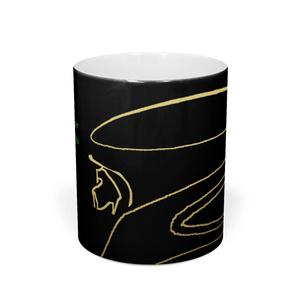 ピーマン 25 ※線画・金色・背景黒