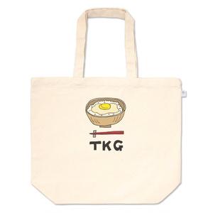 卵かけご飯のトートバッグ(Lサイズ)