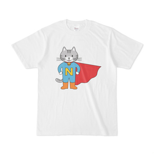 猫ちゃんヒーローのTシャツ