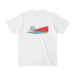 猫ちゃんヒーロー(飛行編)のTシャツ