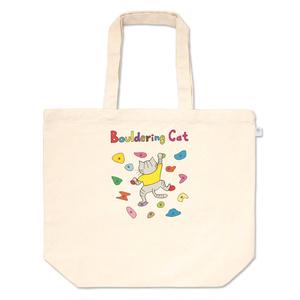 ボルダリングする猫ちゃんのトートバッグ