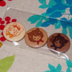 【goods】チョコにゃんこ缶バッジセット