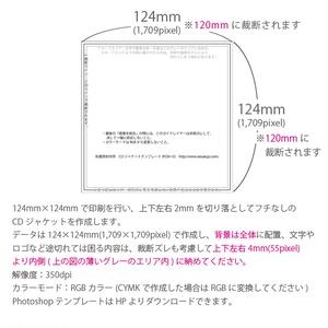 CDジャケット2P(12×12cm)【片面印刷】