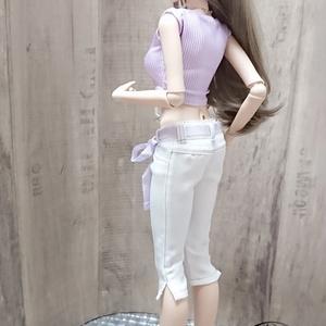 Smart Doll カラーステッチ七分丈パンツセット スミレ