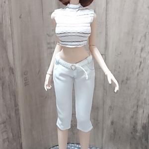 Smart Doll カラーステッチ七分丈パンツセット 渚