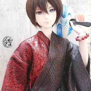 Smart Doll メンズ艶浴衣 赤×黒