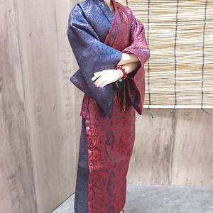 Smart Doll メンズ艶浴衣 青×赤