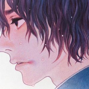 便箋 「雨と男の子」