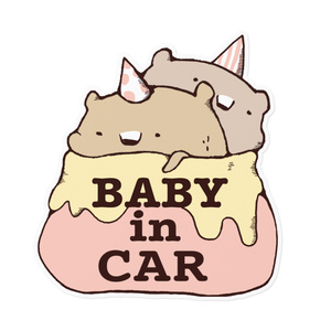 赤ちゃん用カーステッカー《カラー》