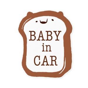 赤ちゃん用カーステッカー《くまパン》
