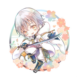 【刀剣乱舞】桜吹雪アクリルキーホルダー鶴丸国永