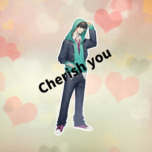 【トミノ】Cherish you アクリルキーホルダー