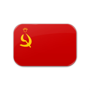 ソ連×猫缶バッジ にゃんこっき缶バッジその9-1/角丸長方形