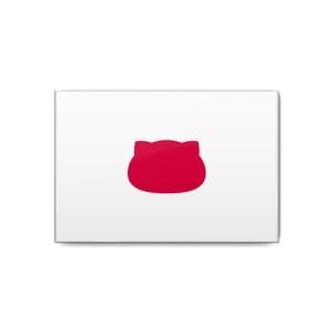 日本×猫缶バッジ にゃんこっき缶バッジその1-4/長方形・国名なし