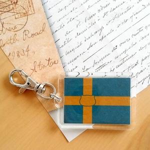 スウェーデン×猫キーホルダー にゃんこっきその3