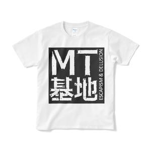 四角ロゴT(白)